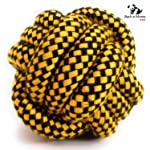 BnM Dog Toy Rope Ball for Chewing and Teething (8cm)(Colors May Vary)