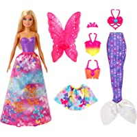 Barbie Dreamtopia Dress Up Doll Playset, with Princess, Fairy & Mermaid Costumes