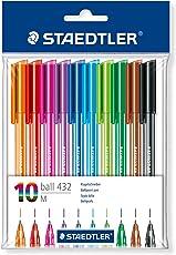 Staedtler 43235MPB10 Penne a sfera colori assortiti, confezione da 10