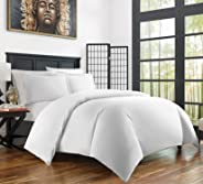 Zen Bamboo Ultra Soft 3-Piece Rayon Derived From Bamboo Duvet Cover Set -Hypoallergenic and Wrinkle Resistant