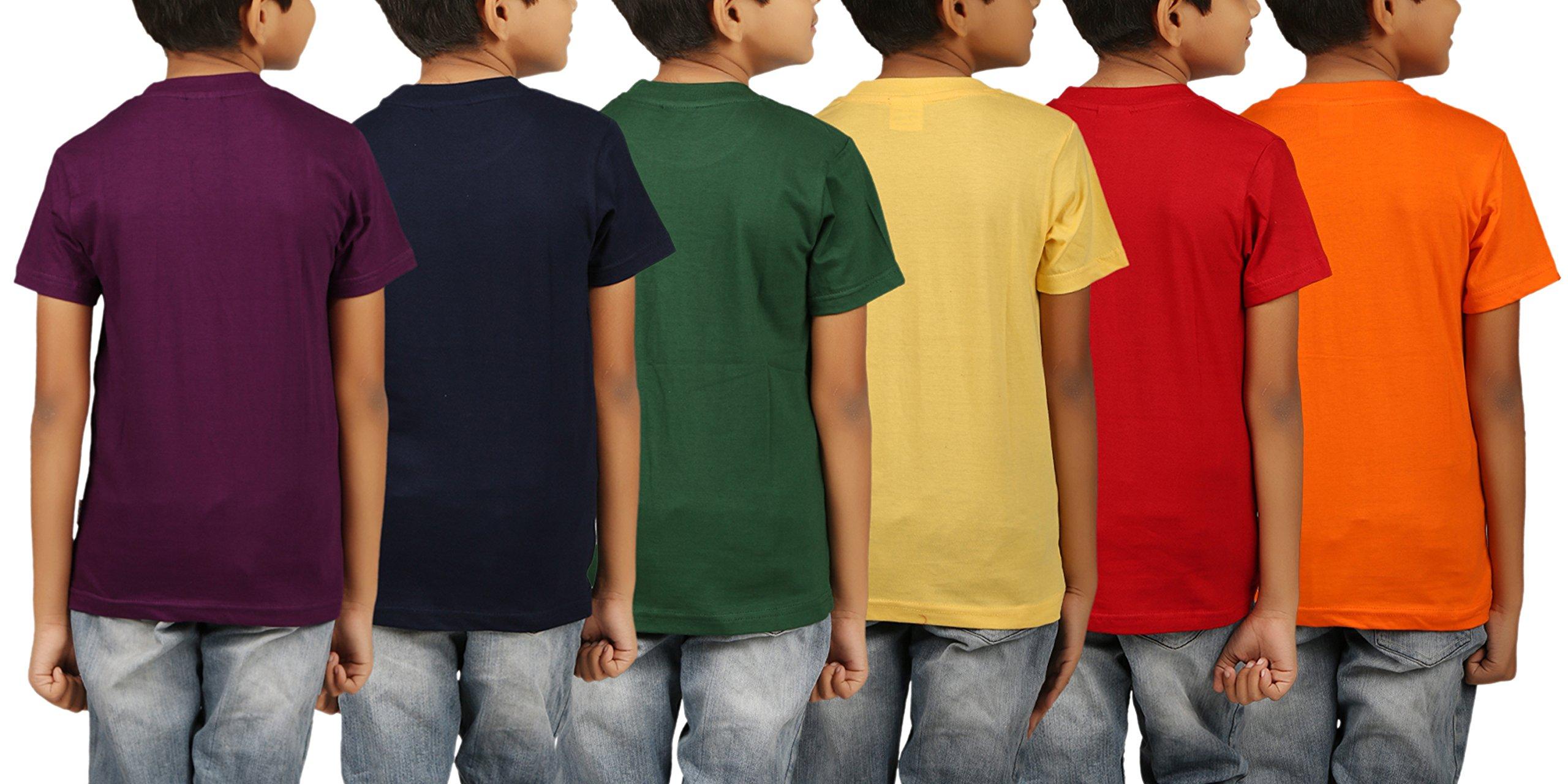 3959d82aeeff2 Kiddeo Boy s Cotton T-Shirt - Pack of 6