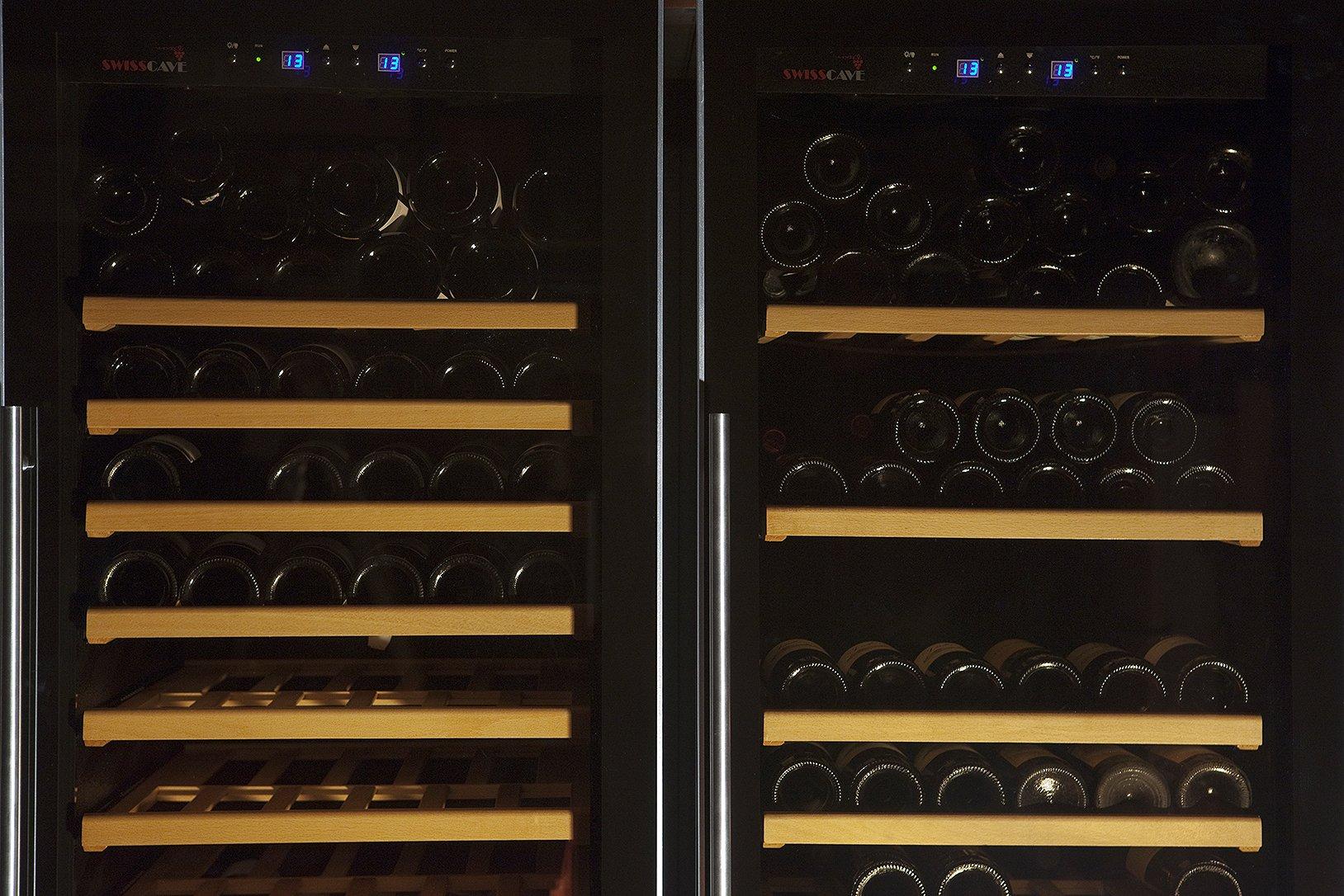 SWISSCAVE-Weinklimaschrank-220-Fl-inkl-Lieferung-aufs-Stockwerk-D-Weinkhlschrank-mit-Aktiver-Luftbefeuchtung-oder-2-Temp-Zone-optional-erhltlich