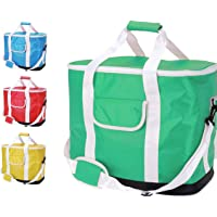 Large 30L 60 Can Insulated Cool Tote Bag Cooler Shoulder Strap Picnic Drinks Carrier Family Size