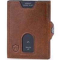 VON HEESEN® Slim Wallet mit XL Münzfach und RFID-Schutz I Leder Geldbeutel I Mini Geldbörse für Herren und Damen I…