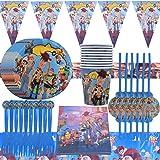 WENTS Vajilla Diseño de Toy Story Desechable Accesorio de Decoración de Fiesta de Cumpleaños Apoyo para Celebración Pancarta