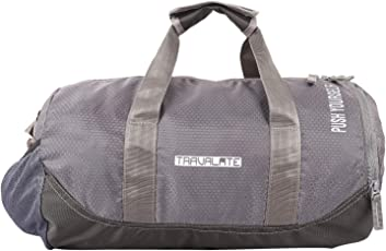 TRAVALATE Polyester Water Resistant Gym Sports Duffel Bag for Men and Women with Shoes Compartment