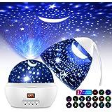 Proiettore Stelle Soffitto Romantica Luce Notturna del Cielo Stellato con Timer, 17 Modalità Colore di Proiezione, 360° Rotaz