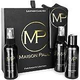 Maison Paul Entretien soin du cuir, kit | nettoyant, nourrissant, imperméabilisant pour blouson, veste, sac, équipement moto,