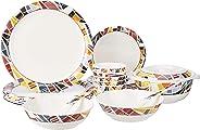 Amazon Brand - Solimo Melamine Dinnerware Set (23 pieces)
