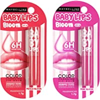 Maybelline New York Baby Lips Color Changing Lip Balm, Pink Bloom, 1.7g & Maybelline New York Baby Lips Color Changing…