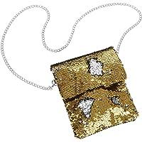 dressforfun 900654 Pailletten Handtasche, Damen Glitzer Party Umhängetasche mit Wendepailletten - Diverse Farben - (Gold…