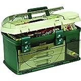Plano 3-lade Tackle Box, groen Metallic/Beige