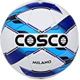Cosco MILANO Synthetic fiber Football, Size 5,  Blue, White