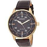 Citizen Men Black Dial Leather Band Watch - BM7393-16H