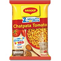 Maggi 2-Minute Instant Noodles, Chatpata Tomato Masala Pouch, 60.5g