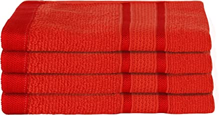Urban Hues 450 GSM Cotton Hand Towels- Set of 4 (24 Inch x 16 Inch)