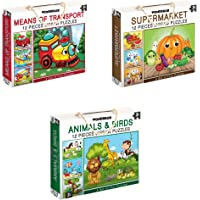 WONDRBOX Jigsaw Puzzle for 3 And Up, Set of 12, Multicolour