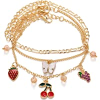 Jewels Galaxy Jewellery for Women Gold Plated Bracelet Cum Anklet