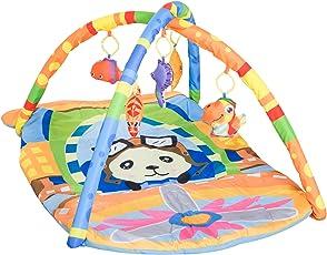 homcom Tappeto Palestrina per Neonati Bambini con Giocattoli Imbottita Disegno Aereo 92 × 65 × 45cm