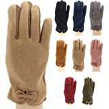 Trendcool Guanti da donna invernali, taglia unica, guanti tattili per cellulare, sottili ed eleganti, guanti caldi per il fre
