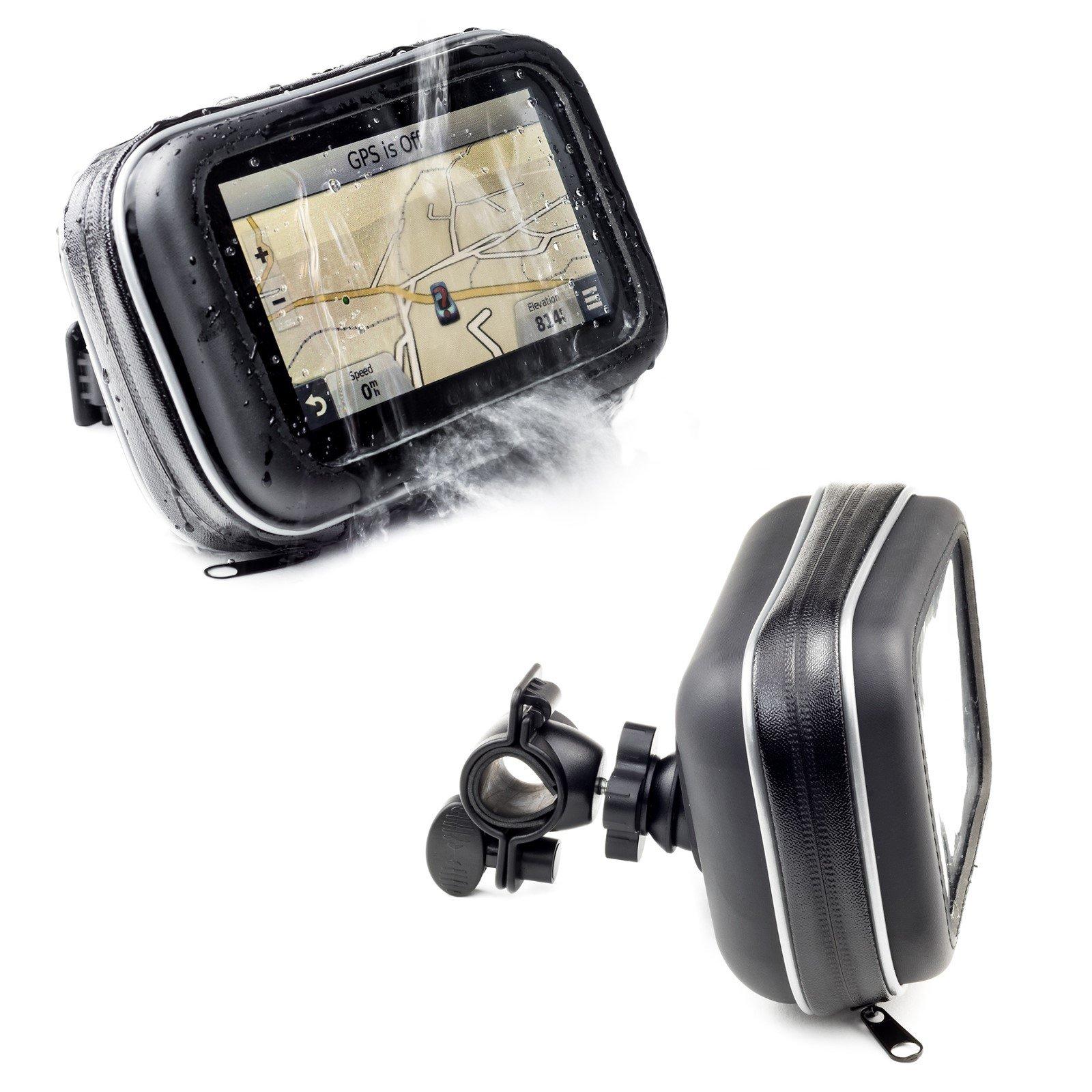 Digicharge Support Guidon de Moto avec Housse Résistant à l'eau pour 5''  Navman and Mio GPS Sat Nav S F Moov and Spirit Series - Cardiofrequencemetre