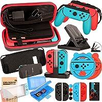 Kit Accessori per Nintendo Switch - Custodia Pellicola Protettive per Nintendo Switch Console - Custodie per Giochi…