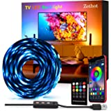 "Tiras LED 3.5M, Tira de luces retroiluminadas USB para TV de 55"" a 65"", Control de aplicaciones con 16 millones de colores, B"