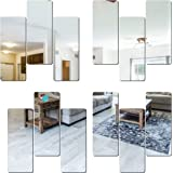 Look Decor SAG 12 Frame Silver 3D Mirror Acrylic Wall Sticker Decoration for Kids Room/Living Room/Bedroom/Office/Home Latest