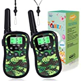 Army Green Walkie Talkies for Boys Girls Long Range Walky Talky Birthday Present for Kids