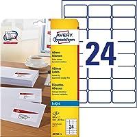 Avery Zweckform J8159-25 Lot de 25 feuilles à étiquettes d'adresse pour enveloppes (Import Allemagne)