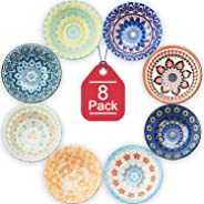 Farielyn-X 8 Pack Small Ceramic Bowls - Porcelain, Soup, Salad, Pasta, Rice, Dessert, Yoghurt, Condiments, Side Dishes, Dip,