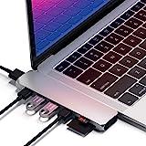 Satechi Pro Hub Adattatore in Alluminio di Tipo-C - Thunderbolt 3 (40 Gbs), 4K HDMI, porta di ricarica, Lettore Schede SD/Mic