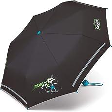 Scout Kinder Regenschirm Taschenschirm Schultaschenschirm mit Reflektorstreifen extra leicht Fußball Goal