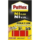 Pattex 10 zelfklevende strips, dubbelzijdig, zeer klevend, 20 x 40 mm