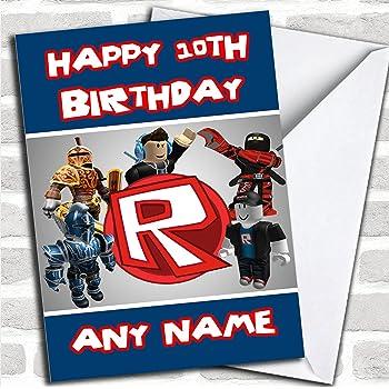 Roblox Logo Customised Birthday Card
