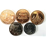 Coins & Stamps World Coins 5 Different Rare Countries