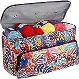 Coopay Sac à Tricoter, Sac de Projet pour Le Crochet et Le Tricot, Sac Fourre-Tout pour Le Stockage de la Laine, Sac de Trico