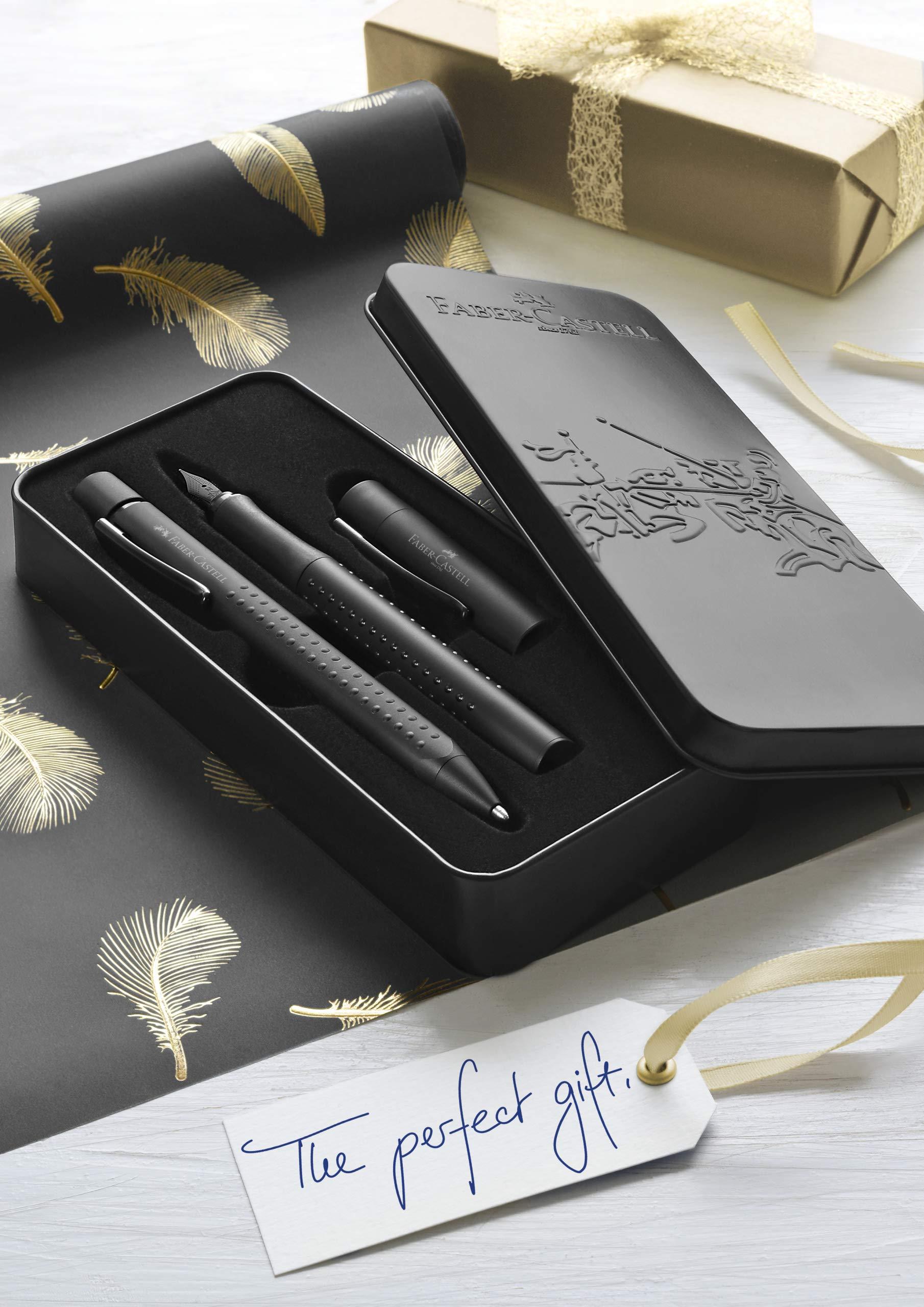 Juego de regalo Faber-Castell 201626 Grip Edition, plumín ancho M y bolígrafo con mina XB, en estuche de metal de alta…