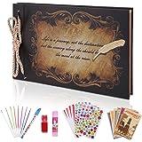 OUME Album Photo Scrapbooking Livre Photo Mémoire Album avec DIY Accessoires Mariage Livre d'or Idee Cadeau Femme pour Valent