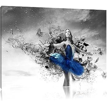 schöne Ballerina schwarzweiß, Format: 70x70 auf Leinwand