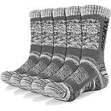 YUEDGE 3/5 paia di calzini sportivi da uomo Calze da equipaggio con cuscino performance, completo per attività ricreative all