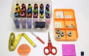 Sewing Solution's - Multipurpose Tailoring Kit Essentials-1001- with Strong Organiser Box