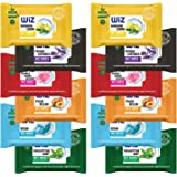 Wiz Eco Friendly Ph-Balanced Biodegradable Paraben free Refreshing Wet Wipes with Extra Moisturizers 25 Pulls - Assorted Pack