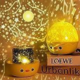 Lampada Proiettore Stelle Bambini , Telecomando Luce Notte Bimbo con 6 Proiezione e 8 Musica, 360° Rotazione Stellato Proiett