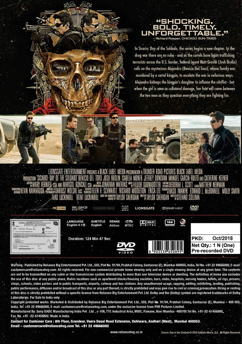 Sicario 2 (Sicario: Day of the Soldado) | Movies, Movies and TV Shows |  Best news and deals!