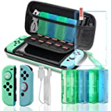 Switch Accessories Bundle, Accessories Kit for Nintendo Switch, Switch Carry Case, Screen Protector, Joy-Con Covers, 4 Game H