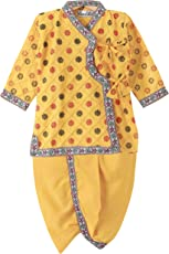 BownBee Cotton Angrakha dhoti kurta for boys