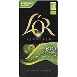 L'OR - Café Espresso - Organic Collection - Bio intensité 7 - Compatible Nespresso ®* - 10 packs x 10 capsules aluminium