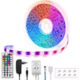 Tiras LED 5M, Fulighture Luces LED RGB 5050 IP65, 150 Tira LED y mando a distancia de 44 teclas, 20 Colores 8 Modos de Brillo