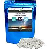 Melatonin Förte 1,8mg - Magnesium - Vitamin B6 / 90 tabletter på 600mg / NAKURU Relax/Testad och förpackad i Frankrike
